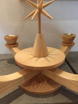 Advent Large Candle Holder Natural with Wooden Star