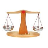 Glueckskaefer Wooden Balancing Scale