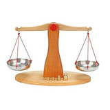 Glueckskaefer Wooden Balancing Scale