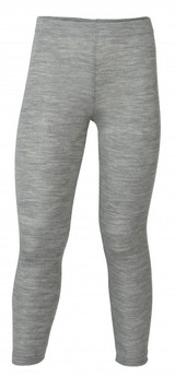 Engel Organic Merino Wool/Silk Kids Leggings - Light Grey