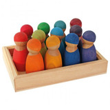 Grimm's 12 Rainbow Friends - Cherry Wood