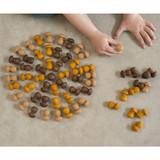 Grapat Mandala Mini Mushrooms - Brown (18-202)