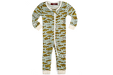 Milkbarn Bamboo Zipper Pajamas - Blue Fish
