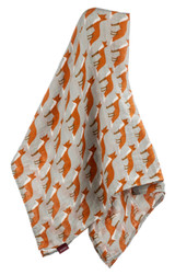 Milkbarn Organic Cotton Swaddle - Orange Fox
