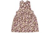 Milkbarn Organic Pinafore Apron - Purple Floral