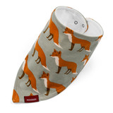 Milkbarn Organic Cotton Bandana Bib - Orange Fox
