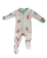 Zippyjamz Organic Cotton Footed Pajama - Watermelon Wiggles