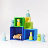 Grimm's Set of Small Boxes - Blue/Green