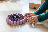 Grapat Mandala Eggs 36 pc - Purple (19-204)