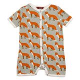 Milkbarn Organic Cotton Overall - Orange Fox