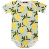 Milkbarn Organic Cotton Onesie Short-Sleeve - Lemon