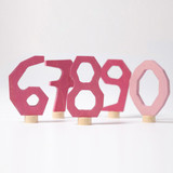 Pink Decorative Numbers 6-9 and 0