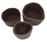 Papoose Nesting Bowls Grey 3 pc (PP223)