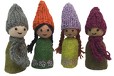 Papoose Felt Forest Family - Set of 4 (PP386)