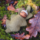 Papoose Felt Acorn Baby Natural