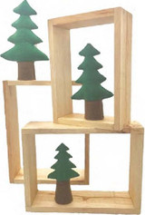 Papoose Nested Wood Story Boxes Set of 3