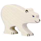 Holztiger Small Polar Bear Head Down