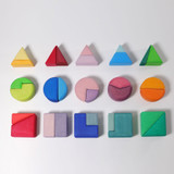 Grimm's Triangle-Square-Circle Building Blocks (30 Pc)