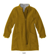 Disana Children's Boiled Wool Coat with Zipper Gold