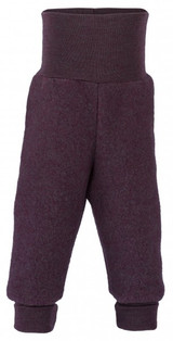 Engel Wool Fleece Baby Pants - Lilac Melange