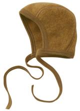 Engel Organic Merino Wool Fleece Baby Bonnet - Saffron