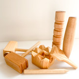Play Dough Wooden Tool Set With Mats