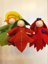 Green Autumn Leaf  Hanging - Flower Children