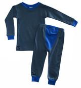 Wee Woollies Pajama 2 Piece Set - Charcoal/Bluebird (anthracite/blue)