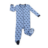 Silkberry Bamboo Footed Sleeper - Dino Print
