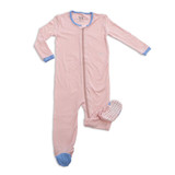 Silkberry Bamboo Footed Sleeper - Pink Cloud - Solid