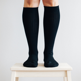 Lamington Merino Wool Socks Woman - Black Rib