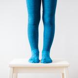 Lamington Merino Wool Tights Textured Knit - Teal