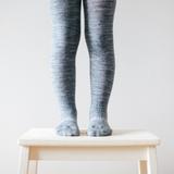 Lamington Merino Wool Tights Flat Knit - Grey