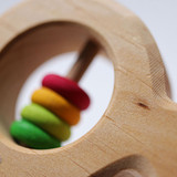 Grimm's Fish Rattle with Multi-Coloured Discs