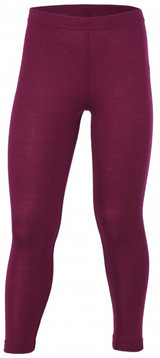 Engel Organic Merino Wool/Silk Kids Leggings - Orchid