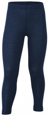 Engel Organic Merino Wool/Silk Kids Leggings - Navy