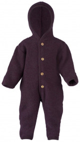 Engel Wool Fleece Hooded Overalls - Purple (575722-059E)