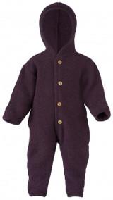 Engel Wool Fleece Hooded Overalls - Purple (575722-059E)