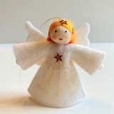 Hanging Small Angel with Star and Yellow Hair - Flower Children