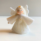 Hanging Small Angel with Star and White Hair - Flower Children