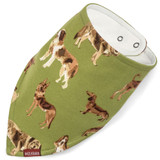 Milkbarn Organic Cotton Bandana Bib - Green Dog