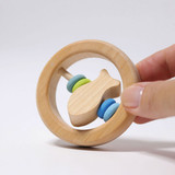 Grimm's Fish-In-Circle Rattle with Blue/Green Discs