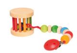 Grimm's Mini Rolling Wheel With Bells - Rainbow