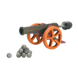 Ostheimer Large Cannon with 10 Cannonballs