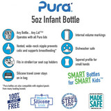 Pura Kiki Baby Bottle 5oz - Pink Sleeve
