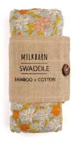 Milkbarn Bamboo Swaddle - Grey Floral (63078)