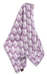 Milkbarn Organic Cotton Swaddle - Lavender Hedgehog