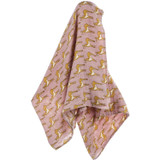 Milkbarn Organic Cotton Swaddle - Pink Doe (61067)