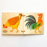 Atelier Fischer Wooden Picture Book - Domestic Animals Large