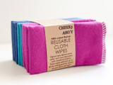 Cheeks Ahoy Cloth Wipes - 10 Pack - Coloured